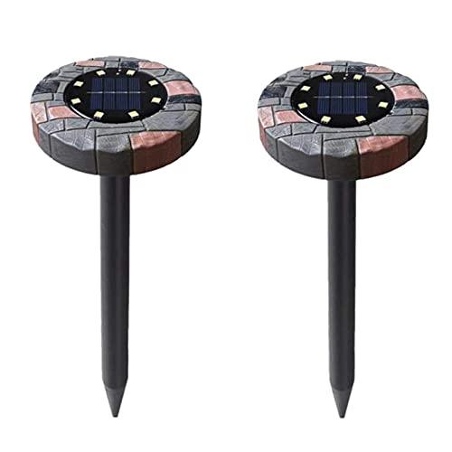 Varadyle 2 Piezas de Repelente de Lunares Solares, Repelente de Lunares Solares UltrasóNico con Chip de 8 LED, Control de Lunares, Repelente de CampaaOl, Control de Plagas para JardíN