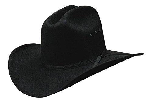 All Black Faux Felt Cowboy Hat with Black Band - L/XL