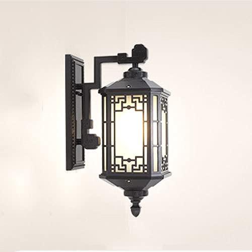 Bonnik Lámparas Pared para Exteriores Impermeables Europeas Retro Aluminio con Cubierta Lámpara Vidrio Lámpara para Exteriores Impermeable Hierro Forjado Creativo Balcón Exterior E27 / E26 Jardín