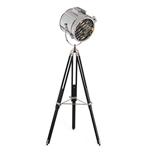 FYounLight vloerlamp design vloerlamp chroom zwart hout