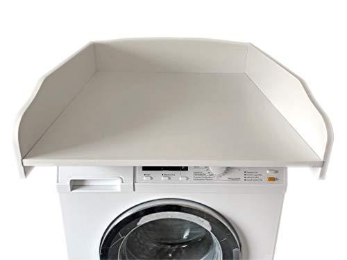 Wickeltischaufsatz Weiß, Wickelfläche 60x70cm, Wickelauflage, Wickelkommode, Aufsatz Für Waschmaschine Oder Trockner, Stabil Und Leicht