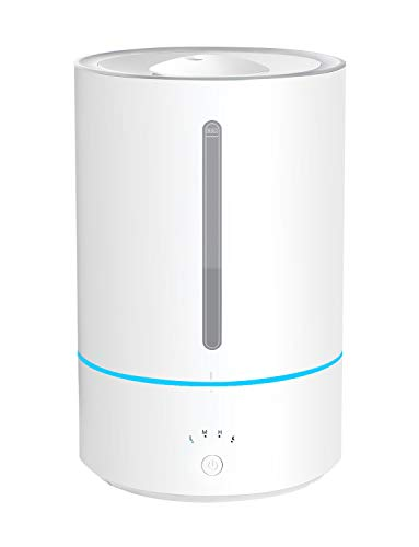 Homasy 5L Humidifiers Diffusers for Essential Oil, Humidifiers for Bedroom with Top-Fill Design, Auto Shut Off & Touch Control, Whisper-Quiet, Sleep Mode