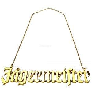 Jägermeister gouden ketting XXL halsketting van metaal (geen echt goud)