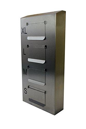 Dispensador de Guantes de 4 Niveles con Solapa | Acero Inoxidable, sin plástico | Sistema de Acceso Lift & Pull 289 x 96 x 575mm