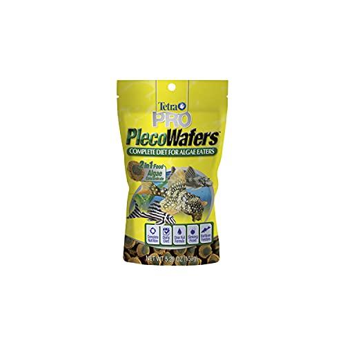 Tetra PRO PlecoWafers 5.29 Ounces, Nutritionally Balanced Vegetarian Fish Food, Concentrated Algae...