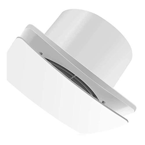 JHYS Ventilador Extractor de Pared, Ventilador de ventilación de Vidrio para Ventana, Ventilador de ventilación de habitación, Ventilador de extracción de plástico Cuadrado Blanco Tipo de Pared Fila