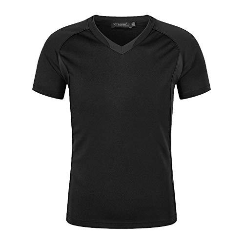 MedusaABCZeus Atmungsaktives Tank T-Shirt,Kurzärmeliges, schnell trocknendes T-Shirt-Schwarz_XL,Herren Shirt Uv Schutz