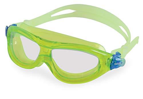 SEAC Matt, Occhialini da Nuoto a Mascherina, Anti-Urto, Ultra Flessibili e Morbidi Unisex Bambini, Verde Lime Lt, 3-6 anni