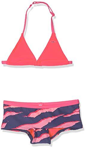 O'Neill Mädchen PG Shelva Shorty Bikini Set, Blau All Over Print mit Pink/Lila, 152