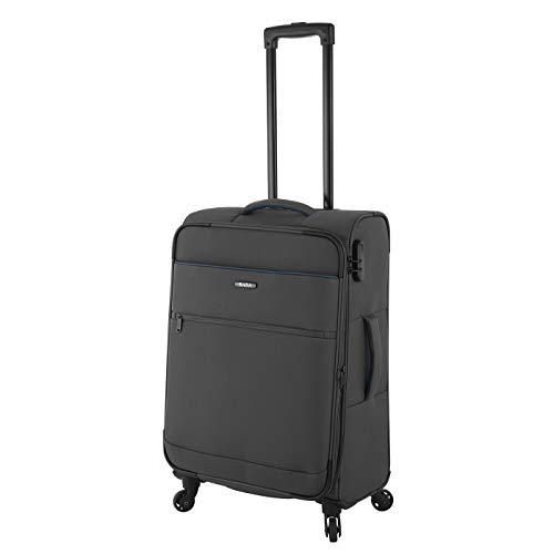 Rada Koffer Gepäck Cloud 4W Reise Trolley sehr leicht mit 4 Rollen Reisekoffer mit Zahlenschloss Verschiedene Größen, Set (anthrazit grau, M - mittlerer Koffer mit 65 cm)
