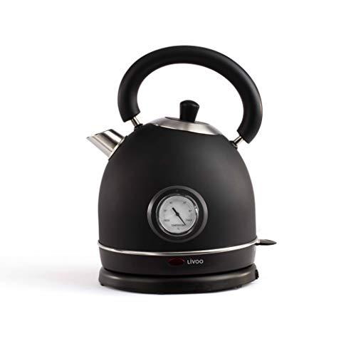 Livoo Bouilloire rétro avec régulateur de température Noir