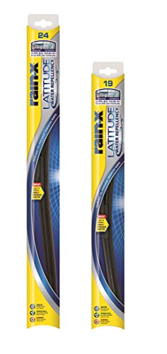 """Rain-X 810160 Latitude Water Repellency 24"""" and 19"""" Windshield Wiper Blade, 2 Pack"""