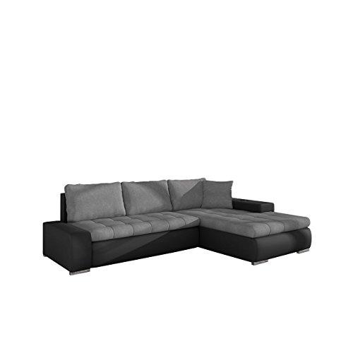 Mirjan24 Elegante Sofa Orkan Mini mit Schlaffunktion und Bettfunktion, Eckcouch Ecksofa mit Bettkasten, Couch L-Sofa Große Farbauswahl, Beste Qualität (Soft 011 + Casablanca 2314)