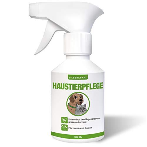 Silberkraft Haustierpflege Spray Hunde 500 ml und Katzen - zuverlässige Hautpflege bei Ungezieferbefall, Juckreiz, Infektionen, Entzündungen - für Hunde, Katzen, Nagetiere und andere Haustiere