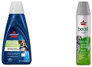 BISSELL 2X Pet Stain & Odor Portable Machine Formula, 32 ounces with Pet Boost Oxy Formula for Cleaning Carpets