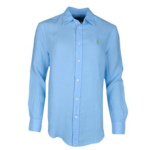 Ralph Lauren - Camisa para mujer, diseño informal, color azul turquesa