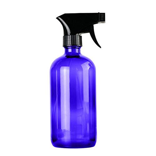 Geshiglobal Distributeur de savon en verre vide pour huile essentielle 250 ml, Verre, bleu, 500 ml