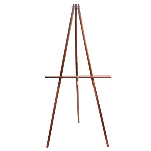 "CONDA 66"" Wooden Tripod Display Floor Easel & Artist Easel, Adjustable Wood Display Easel for Paintings, Drawings, Signs"