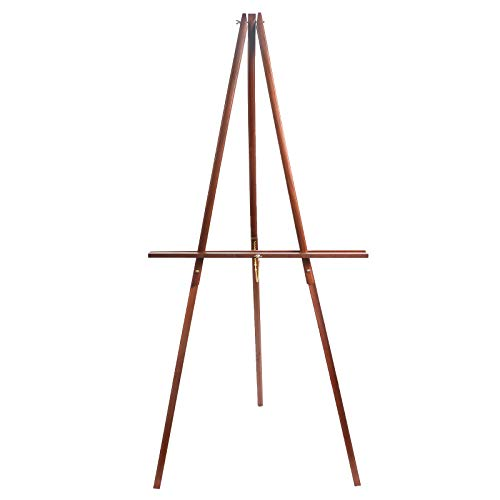 "CONDA 66"" Wooden Tripod Display Floor Easel & Artist Easel, Adjustable Tray Chain Pine Brown Wood"
