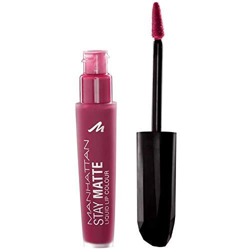 Manhattan Stay Matte Liquid Lip Colour, Matter, wisch- und wasserfester Lippenstift für langanhaltende Farbintensität, Farbe Central Pink 310, 1 x 5,5ml
