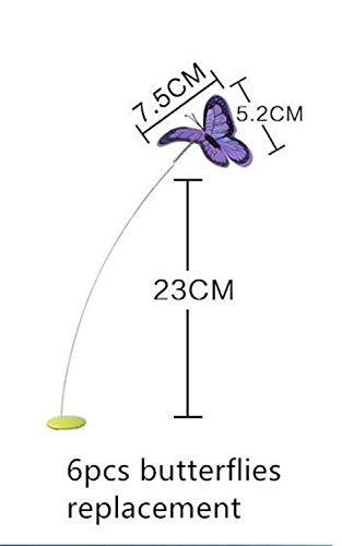 LUOSI Animale Domestico Cat Toy Interactive Electric Butterfly Che Gioca I Giocattoli Giranti della Farfalla for Kitten Funny (Color : 6pcs Butterflies)