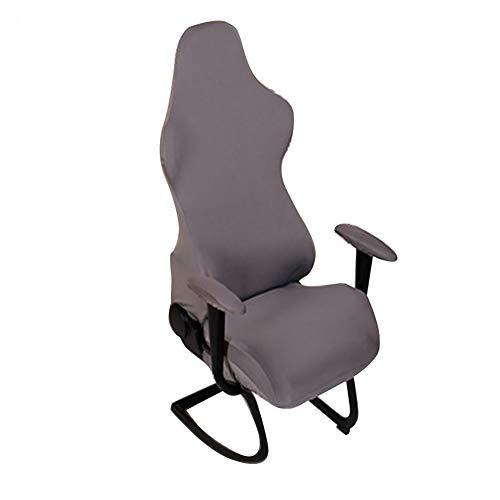 HOMYY - Fundas para silla de juegos, ergonómicas, elásticas, elásticas, para silla de oficina o ordenador, estilo de carreras, silla de oficina, No cero., gris, Tamaño libre