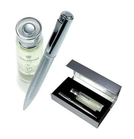 Galimard GAL005 - Estuche de agua de perfume con purpurina para mujer y bolígrafo