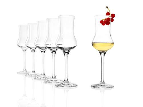 Stölzle Lausitz Grappaglas 6er Set, 90ml Gläser, wie mundgeblasen, spülmaschinenfest, Schnapsglas, aus feinem Kristallglas, hochwertige Qualität