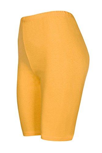 DeDavide 2 Stück Kinder Radsport Shorts, Gelb, 134