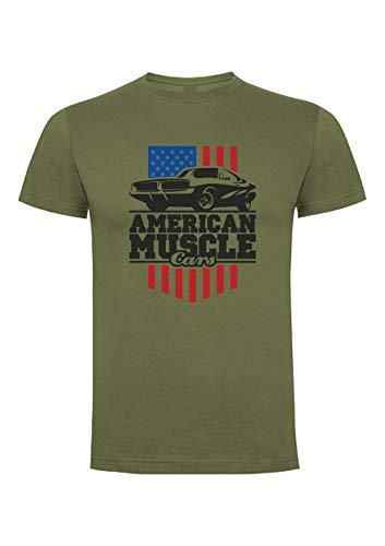 American Muscle T-shirt, gemaakt in Frankrijk (wit, grijs, zwart)