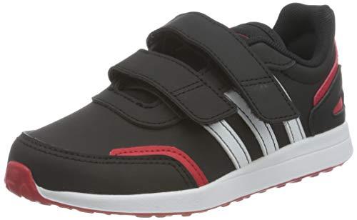 adidas VS Switch 3, Sneaker, Core Black/Footwear White/Scarlet, 32 EU