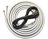 Frepia Line Set for Mini Split Ductless 1/4'x 3/8' x 16' Flared with Fittings and Communication Cable