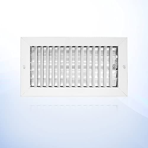 12 x 6 HVAC Vent Cover in Aluminum, Grille HVAC Indoor air Supply Vent. Single Deflection Adjustable with Multi- Shutter Damper. The Outer Size is 13,625