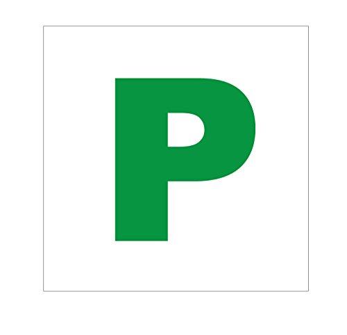 2adesivi con P di principiante, a norma di legge, decalcomania per auto, per finestrino o paraurti