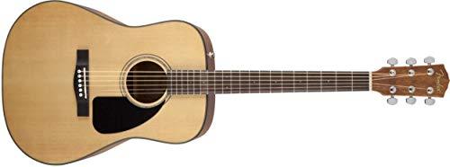 Fender CD-60 Dreadnaught Acoustic Guitar (V3) - With Case - Natural - Walnut Fingerboard