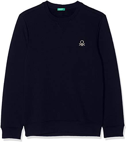 United Colors of Benetton Herren Basico 2 Man Sweatshirt, Blau (Blu Navy 016), Large