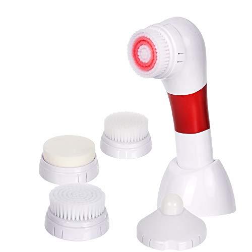 JJIIEE La Brosse de Nettoyage faciale, Brosse exfoliante faciale imperméable a placé 5 dans 1 Massager Facial électrique portatif pour Toutes Les Batteries de Soin de Peau incluses