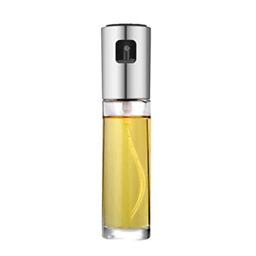 Panamami Öl-Sprühflasche, Essigflasche, Flasche, wasserdicht, zum Würzen von Öl, Soja-Flasche, Küchenutensilien – Silber