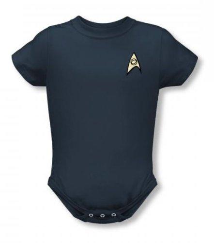 Star Trek - - St / uniforme infantile Science T-shirt En Caroline du Blue, 0-6 Months, Slate