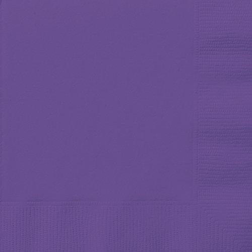Unique Party 99212 - Neon Purple Paper Napkins, Pack of 20