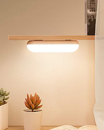 KSIBNW Iluminación Regulable Debajo del Gabinete Mini Barra de luz Portátil Carga USB Control Táctil Luz de Armario con Batería Incorporada de 2000 mAh & Lámpara de Lectura de Hoja de Hierro 3M Stick