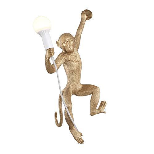 DUHUI Wandleuchte AFFE Lampe Wandbehang Harz 37 * 20 * 75cm (Farbe : Gold)