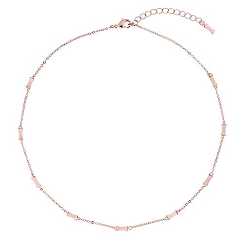 Ted Baker Faye: Mini Faceted Bow Ketting Rose Goud