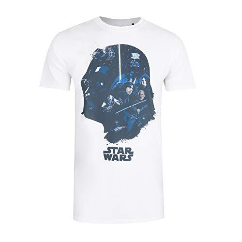 Star Wars Sith Group Camiseta, Blanco (White White), Small (Talla del Fabricante: Small) para Hombre