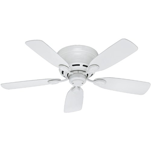 Hunter 51059 Indoor Low Profile IV ceiling Fan with Pull Chain Control, 42', White