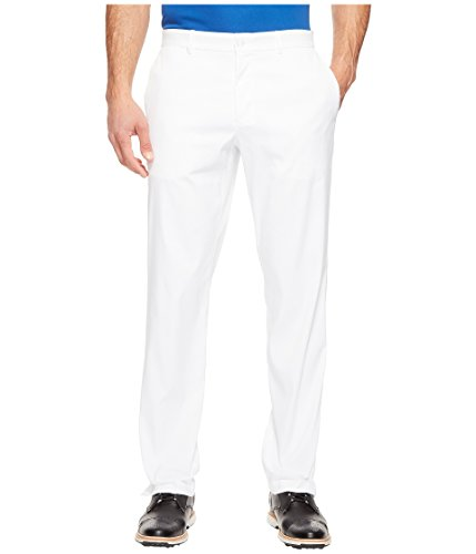 NIKE Men's Flat Front Golf Pants, White/White, Size 38/32