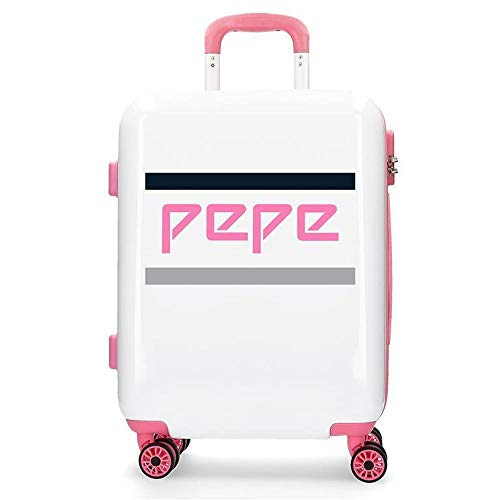 Maleta de Cabina rígida 55cm Pepe Jeans Luggage Archive Pink