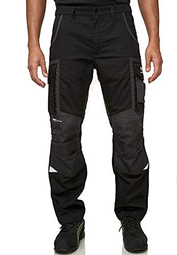 PUMA WORK WEAR Premium Arbeitshose mit vielen Taschen und extra verstärktem Nylon Gewebe - Schwarz - Gr. 46
