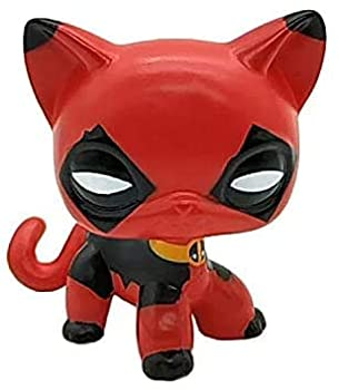 Mini Littlest Pet Shop LPS Toy LPSs Cat Mask Hand Painted Figures Kid Gift