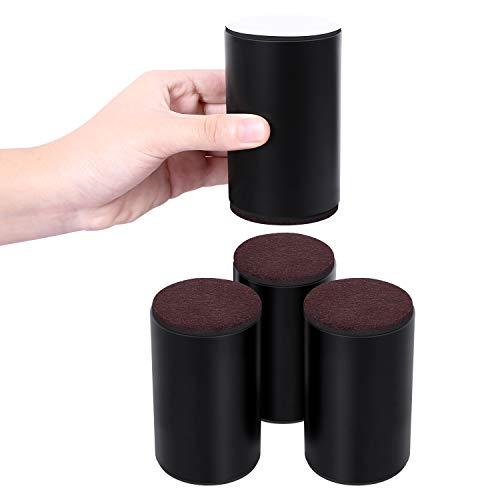 AIRUJIA Möbelerhöhung, 10 cm, Karbonstahl, Betterhöhung, Durchmesser 6 cm, selbstklebend, strapazierfähig,...